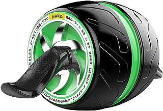 NAKO 腹筋ローラー エクササイズローラー 筋トレ アブホイール 膝マット付き スリムトレーナー トレーニング アシスト機能