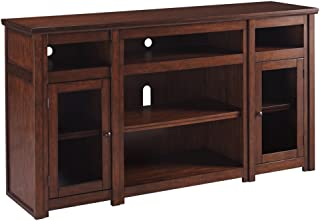 Ashley Furniture Signature Design - Lavidor 62 inch TV Stand - Traditional Style with Concealed Media Storage - Chocolate