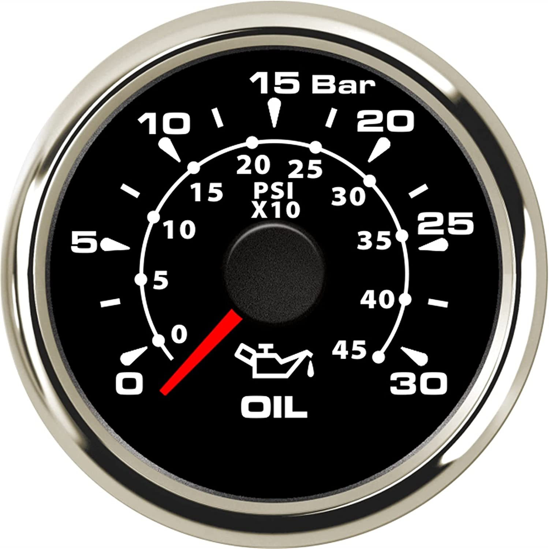 LXQS Louisville-Jefferson County Mall Waterproof Oil Pressure Gauges 52mm Back Sales results No. 1 Gauge