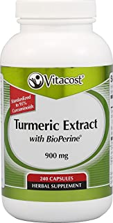 Vitacost Turmeric Extract with BioPerine -- 900 mg - 240 Capsules