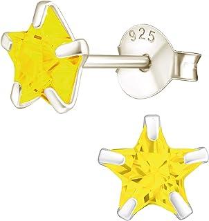 EYS JEWELRY boucles d'oreilles pour dames étoiles argent sterling 925 Oxyde de Zirconium clou d'oreilles femme
