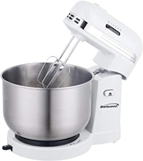Brentwood Appliances BTWSM1162W 5-Speed Stand Mixer with 3-Quart Stainless Steel Mixing Bowl (White), One Size