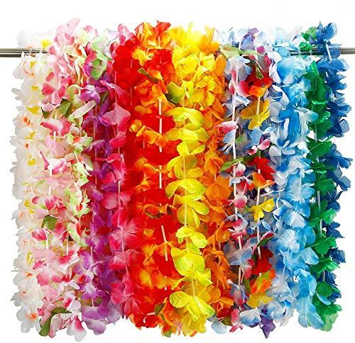 Twister.CK 36pcs Ghirlanda di Fiori Hawaiana di lei, Fiore di Seta Ghirlanda Fascia Hula per Luau Estate Beach Costume Party Dress ?-