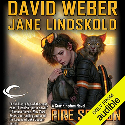 Fire Season     Star Kingdom, Book 2              By:                                                                                                                                 Jane Lindskold,                                                                                        David Weber                               Narrated by:                                                                                                                                 Khristine Hvam                      Length: 9 hrs and 27 mins     924 ratings     Overall 4.5