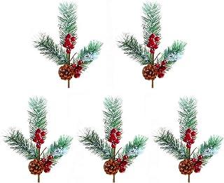 XBR 5 pièces artificielles pin cône cône de pin Pics Fleur Pics pour noël Arrangements Floraux couronnes Table pièce maîtr...