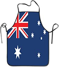 Dujiea Australia Flag Kitchen Apron BBQ Cooking Waterproof Dinner Aprons for Women Men Kids Chef for Parties Gardening Camping