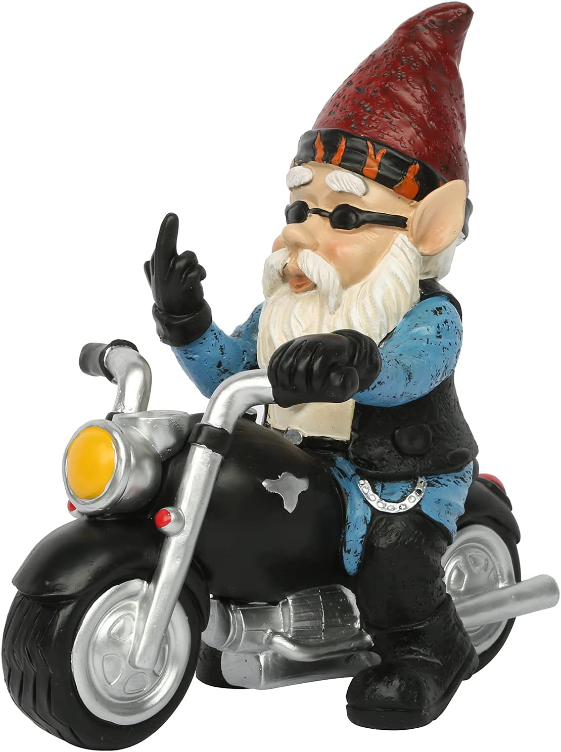 Soldering Exqelf Gnome with Motorcycle Statue Figurine Garden Resin Limited time sale Gnomes