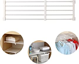 "TabEnter Adjustable Shelf Organizer Expandable Closet Shelf and Rod with No Drilling for Wardrobe Cupboard Kitchen Bookcase 18""- 29.5"""