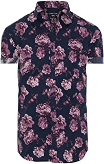Connor Men's Alpha Slim Shirt Short Sleeve Cotton Slim Tops Sizes XS-3XL Affordable Quality with Great Value