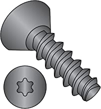 #8-32 Thread Size 3//4 Length Pan Head Steel Thread Rolling Screw for Metal Black Oxide Finish Star Drive Pack of 100
