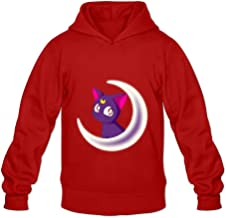 TOMM Men's Sailor Moon Crystal Pullover With No Pocket Red