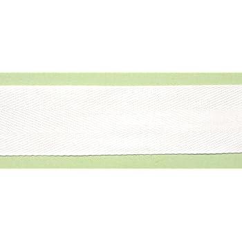 Gro/ßhandel f/ür Schneiderbedarf 5 m Baumwollband 50 mm wei/ß 1,46/€//m