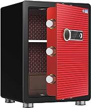 Metal Safe Fingerprint Safe Office Cash Box Smart Anti-Theft Safe Intelligent Automatic Lock Digital Security Safe Box for...