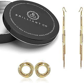 2pc Gift Set Gold Tassle & Twist Earrings