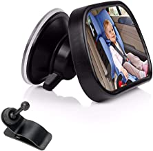 Baby Car Mirror for Back Seat,ShowTop Rear View Facing Back Seat Mirror Child Safety Rearview 360 Degree Adjustable Forwar...