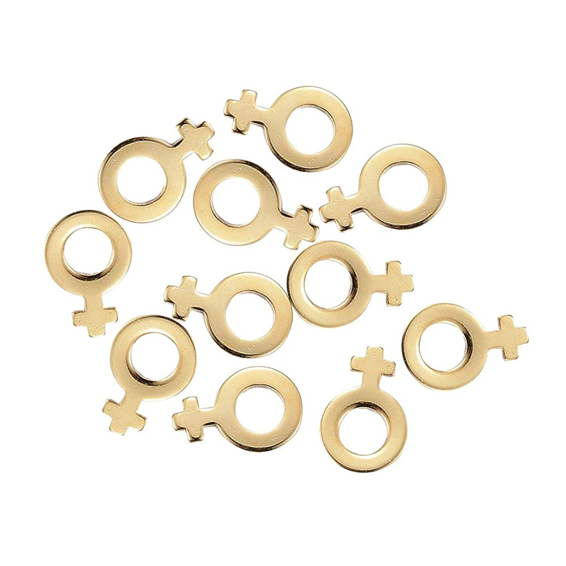 UNICRAFTABLE 100pcs 304 Stainless Steel Charms Golden Symbol-Female Shape Beads Pendants with 4mm Hole Dangle Charm for DIY Necklace Bracelet Jewelry Making 11x7.5x0.8mm
