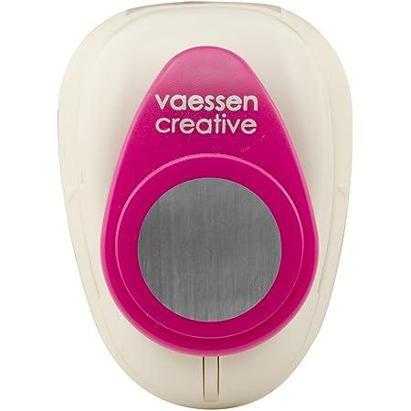 Vaessen Creative Perforatrice de Papier, Taille M, Cercle, Pour Projets DIY, Scrapbooking, Création de Cartes et Plus