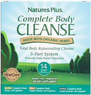 NaturesPlus Complete Body Cleanse Kit - 14 Day Cleanse, 140 Vegetarian Capsules - Herbal Body Detox & Colon Cleanse for We...
