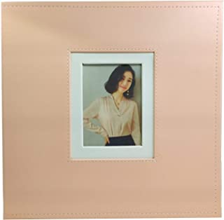 Ksmxos Leather Cover Photo Album, 600 Pockets Memo Album Holds 3.5x5, 4x6, 5x7 Photos,Pink