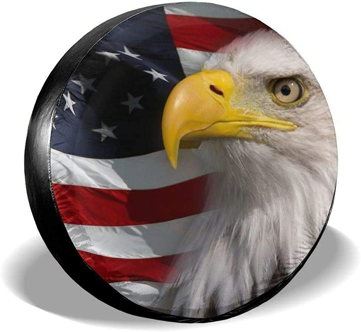 Jackmen Spare Tire Max 58% OFF Cover American Discount mail order Universal Flag Eagle Polyester