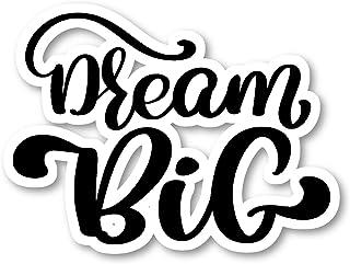 ملصقات Dream Big Sticker Cursive Quotes - ملصقات الكمبيوتر المحمول - 2.5 بوصة من الفينيل - الكمبيوتر المحمول والهاتف اللوح...