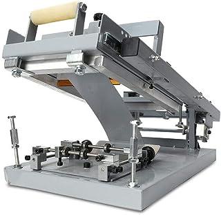 WUPYI2018 Máquina de serigrafía Manual, serigrafía Redonda, tamaño máximo de 200 mm x 100 mm