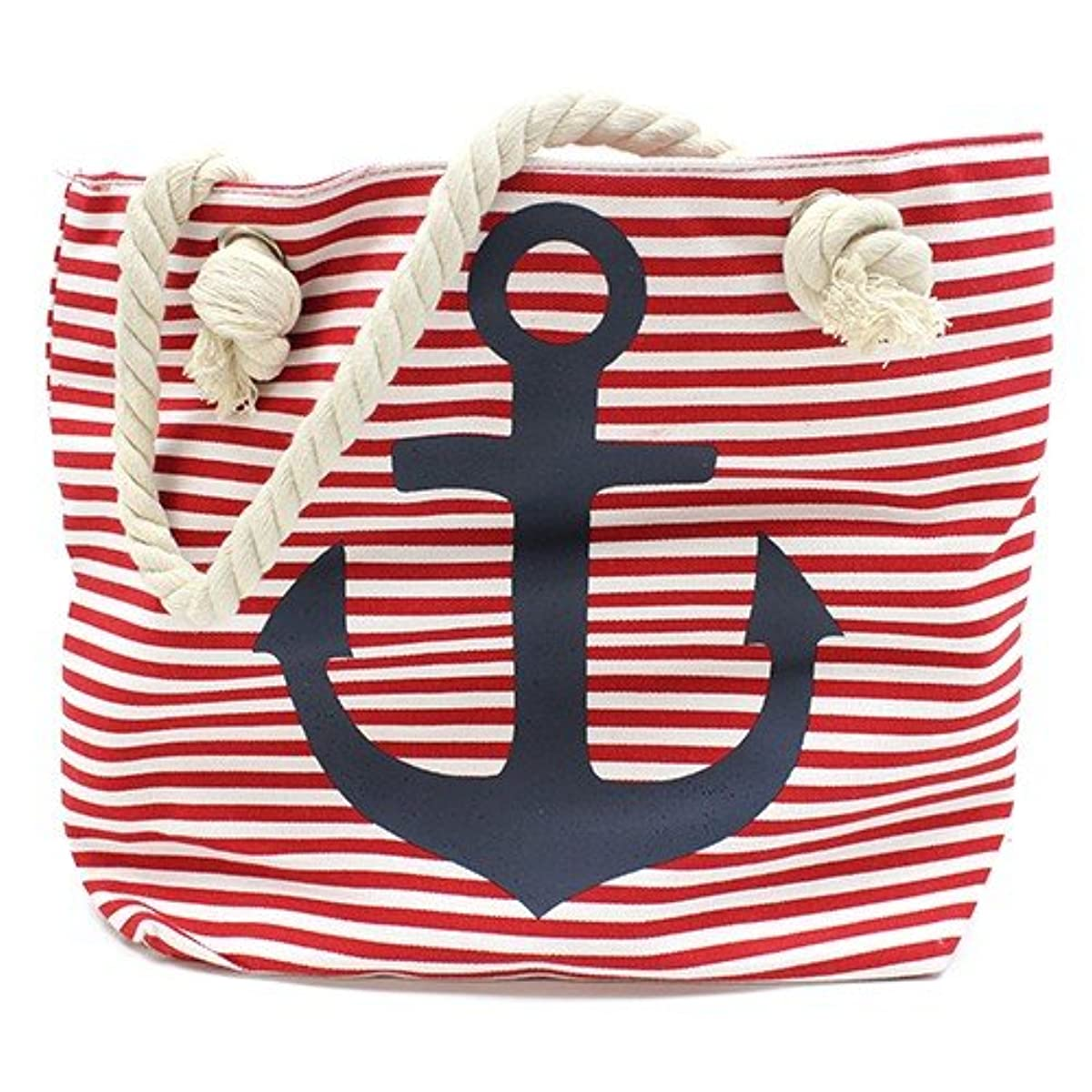 AW Beach Bag, Cotton, Red, 43?x 33?x 5?cm