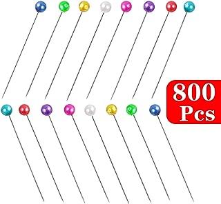 Gleader 480 x Alfiler Color Plateado 1.5 de Largo 3mm Cabeza de Perla Plastico