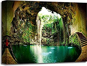 Barewalls Ik-Kil Cenote, Chichen Itza, Mexico Gallery Wrapped Canvas Art (16in. x 20in.)