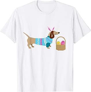 Weiner Daschund Easter T-shirt Doxie in Dog Dress