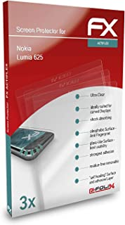 atFoliX Skärmskydd är kompatibel med Nokia Lumia 625 Film, ultraklart och flexibelt FX Skärmskyddsfilm (3X)