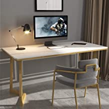 Desktop Computer Desk, Home Study Marble Table with Chair Bedroom Desk and Chair Combination