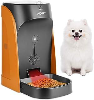 WOpet自動給餌器 餌やり 水洗い可猫犬用自動給餌器ペットフードオートフィーダー自動給餌器2年間保証 4.5L大容量 1日4食連続15日餌分対応でき 留守番対策 日本語説明書 猫 犬サイズ:(約)幅20cm×奥行き32cm×高さ36cm (オレンジ)