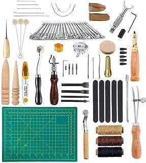 Puzzle Kit de Gravure sur Cuir Ensemble Fait à La Main en Cuir Bricolage Ensemble en Cuir Cousu à La Main Ensemble D'outil...