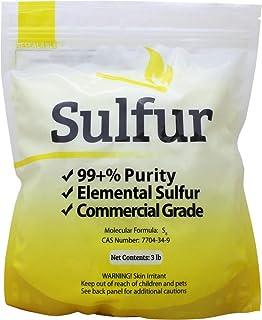 Duda Energy 3 lb Ground Yellow Sulfur Powder Commercial Grade Pure Elemental Commercial Flour No Additives Brimstone