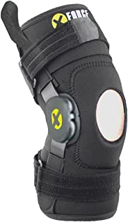 Knee Brace XFORCE Neoprene Support Compression (Large) - Arthritis, Tendonitis, Pain Relief and Recovery - Adjustable Hinges - Open Patella.