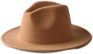 b2a54b02635 Autumn Winter Men Women 100% Wool VTG Wide Brim Felt Trilby Hat BNWT New