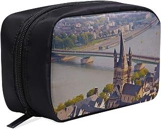 Bolsas de muestra cosmética Hermosa bolsa de tocador romántica de la catedral de Colonia Bolsa de maquillaje de viaje para...