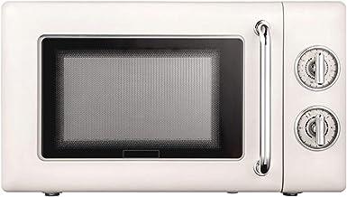 GMZS Placa giratoria del Horno microondas, aparatos de Cocina, Aire Acondicionado Barbacoa Horno de Pizza Retro Hornear Incorporado Plataforma giratoria,Blanco