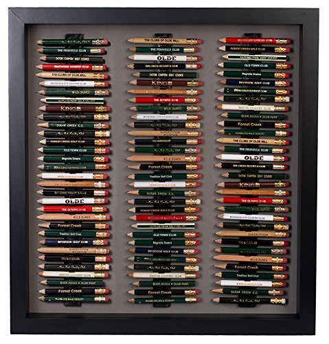 Golf Pencil Display Case with Acrylic Cover (Black)