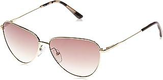 نظارة شمسية للنساء من كالفن كلاين، بني، 58 ملم CK19103S