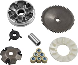 Complete Variator Kits for Gy6 50cc/80cc 139QMB/147QMD Engine, Drive Wheel Assy Performance 8.5 Gram Rollers CVT Front Clutch for Scooter Atv and Gokart(GY6 50/80)