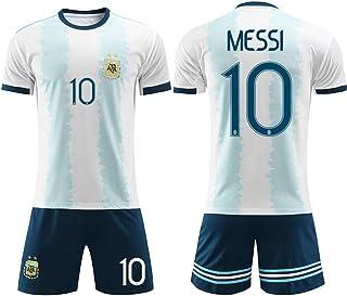 XCR 2019 Niños Niñas Adultos Hombres Mujeres Jersey Fútbol Football Shorts Top Vest Pantalones y Camiseta Traje Kit Set 2-14 años Argentina Messi Verano