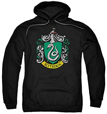 A&E Designs Harry Potter Hoodie Slytherin Crest Logo Hoody