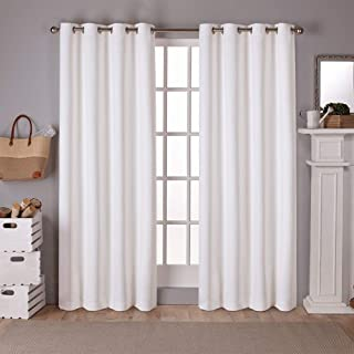 Exclusive Home Curtains EH7982-01 2-96G Sateen Twill Woven Blackout Grommet Top Curtain Panel Pair, 52x96, Vanilla, 2 Piece