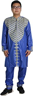 H D African Traditional Clothing Embroidery Dashiki Outfit for Men