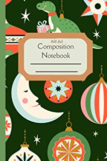 Composition Notebook Wide Rule: Christmas Ornaments Standard wide ruled composition notebook journal for all writing purpo...
