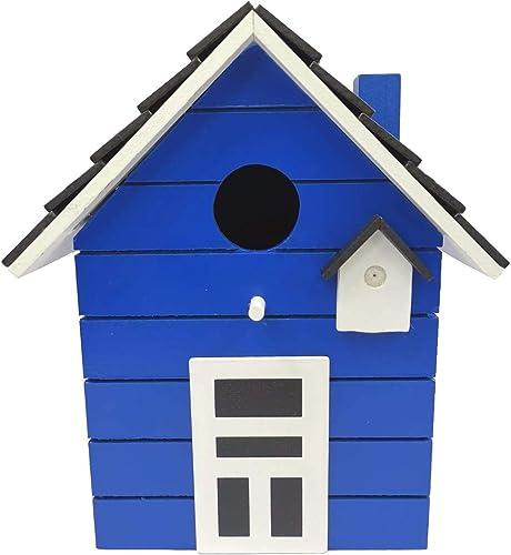 CasaJame Nichoir en bois pour balcon et jardin, nichoir, bleu foncé, maison pour oiseaux, nichoir, nichoir 20 x 17 x ...