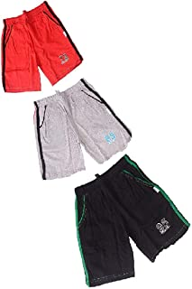 Fashion Sutra Boys Cotton Shorts for Kids Pack of 3