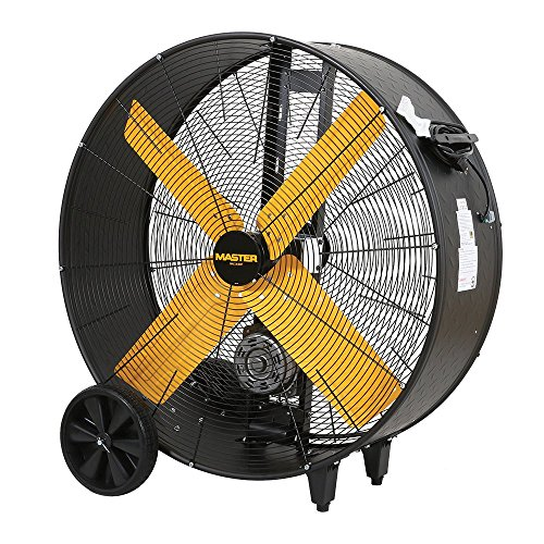 Master Professional High Capacity Belt-Drive Barrel Fan, 36-inch, 2 Speed, OSHA Compliant - MAC-36-BDF